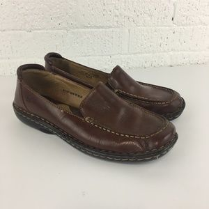 Born brown leather comfort loafers W8526